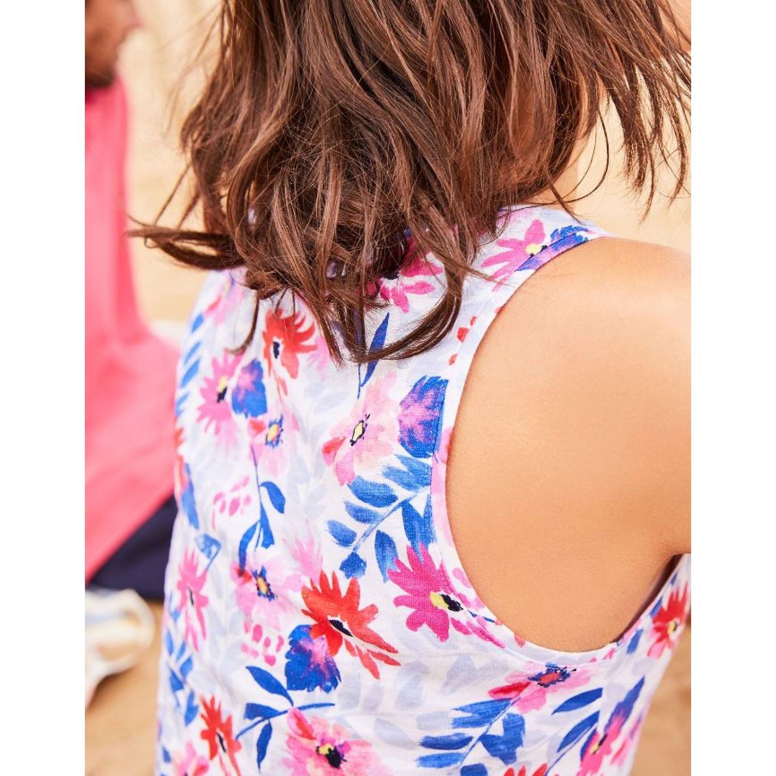 Joules-Bo-impresion-100-Algodon-Jersey-Chaleco-Top-Todos-Los-Colores miniatura 41
