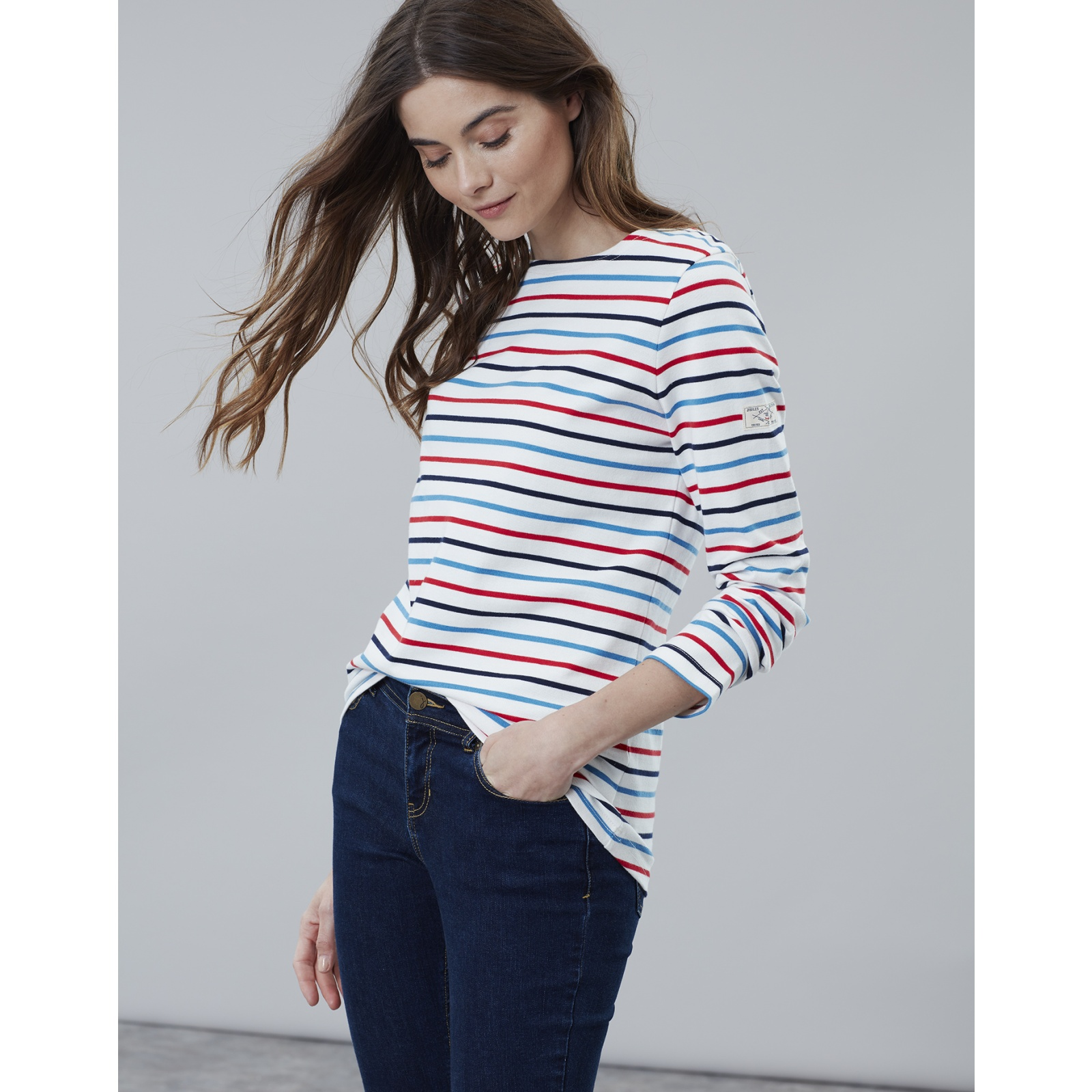 Joules-Harbour-Long-Sleeve-Jersey-Top-ALL-COLOURS thumbnail 11