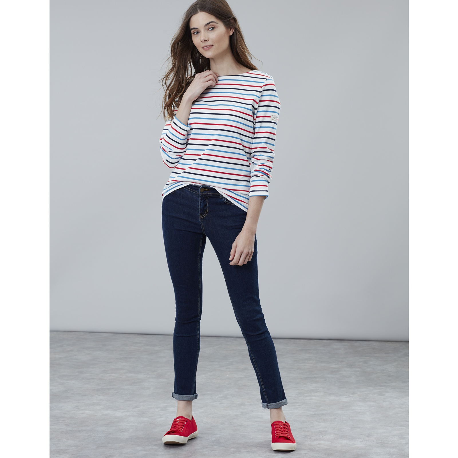 Joules-Harbour-Long-Sleeve-Jersey-Top-ALL-COLOURS thumbnail 12