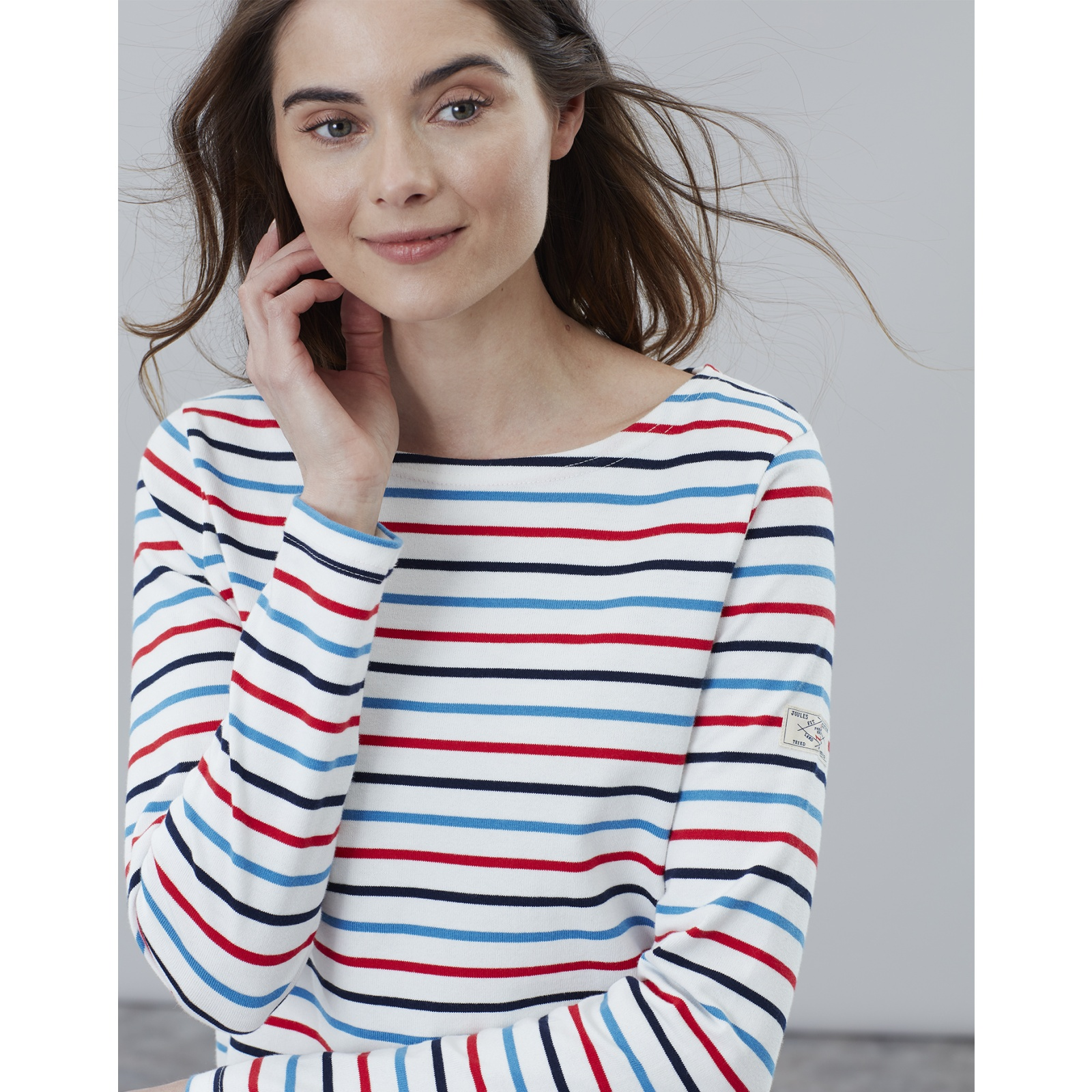 Joules-Harbour-Long-Sleeve-Jersey-Top-ALL-COLOURS thumbnail 15