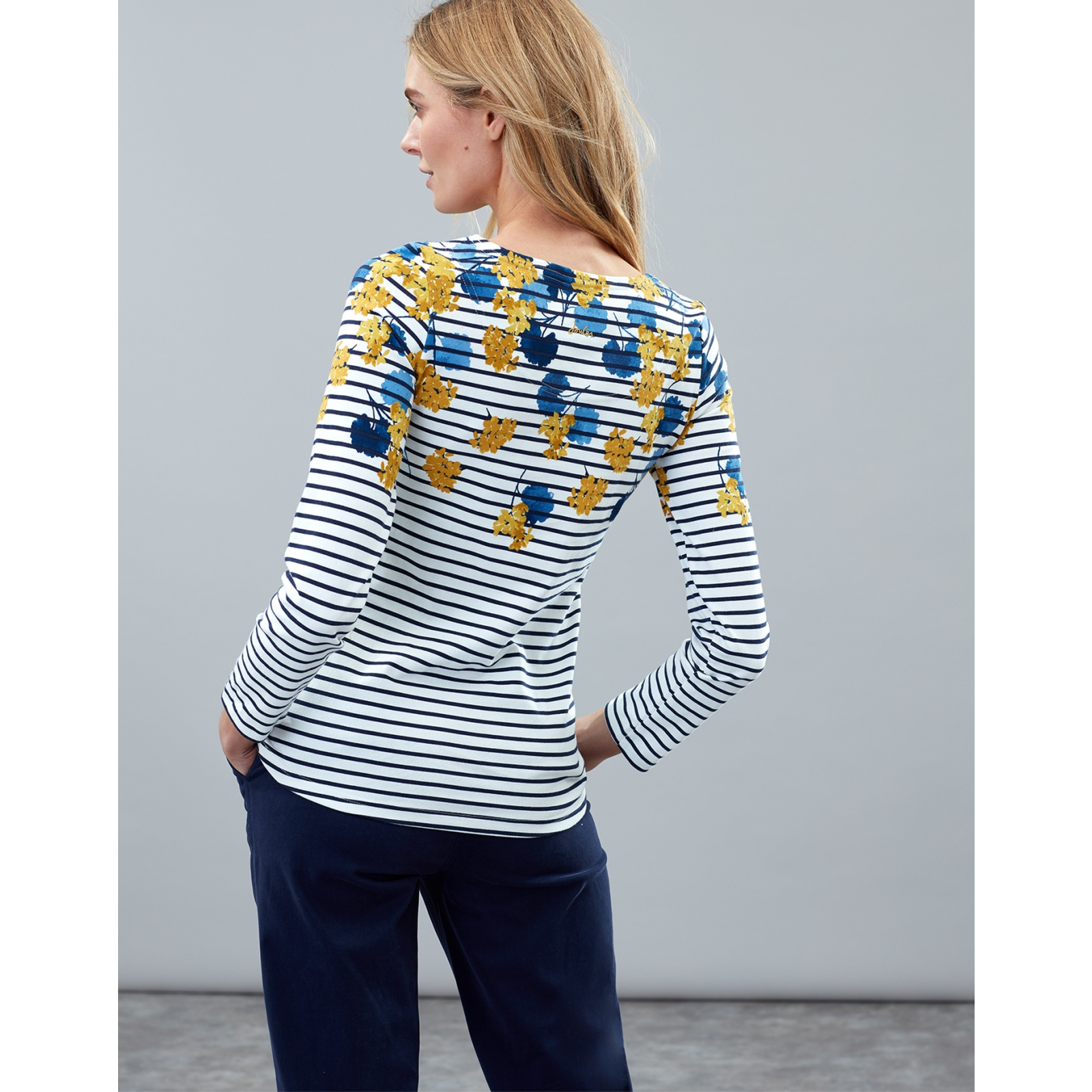 Joules-Harbour-Print-Long-Sleeve-Jersey-Top-ALL-COLOURS miniature 27