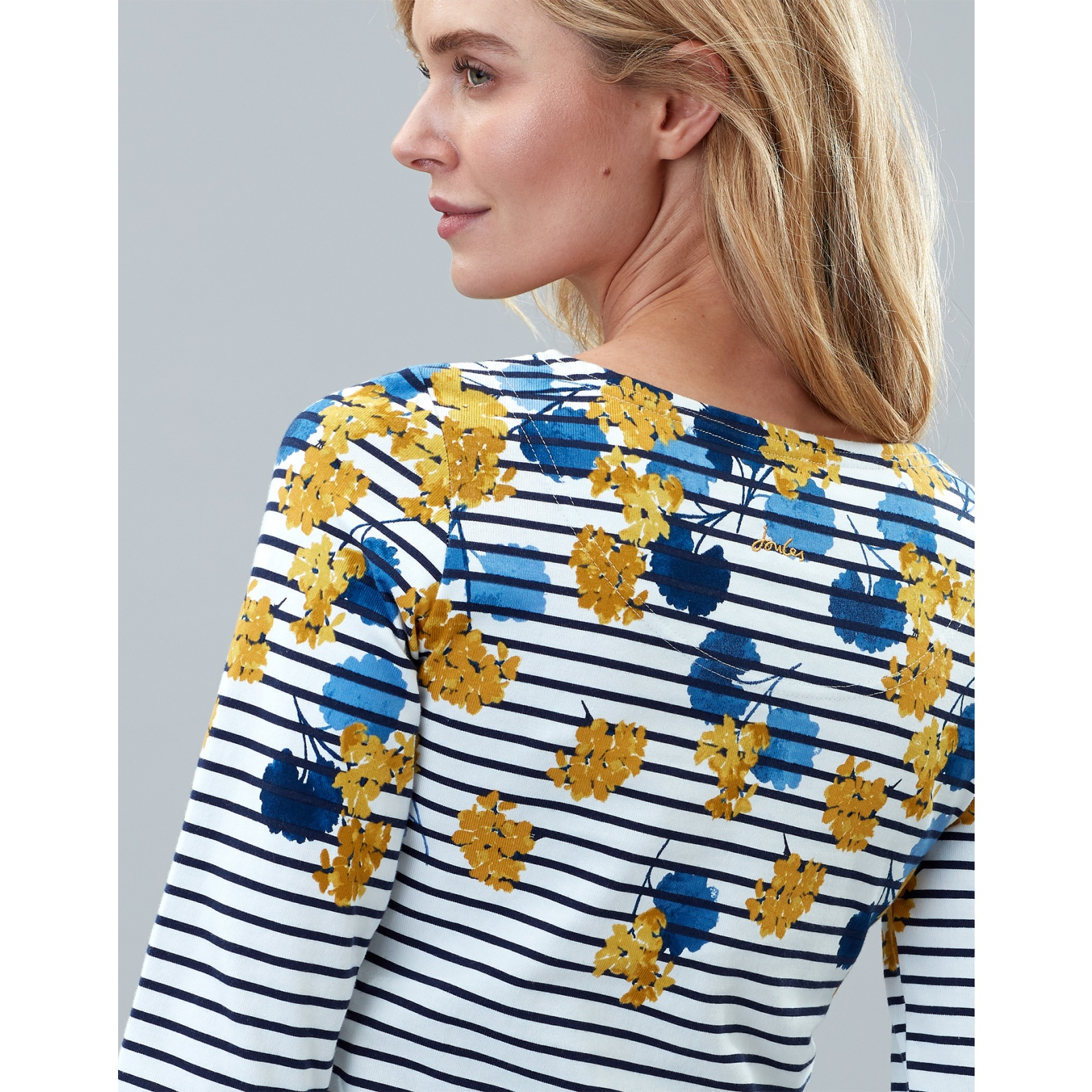 Joules-Harbour-Print-Long-Sleeve-Jersey-Top-ALL-COLOURS miniature 28