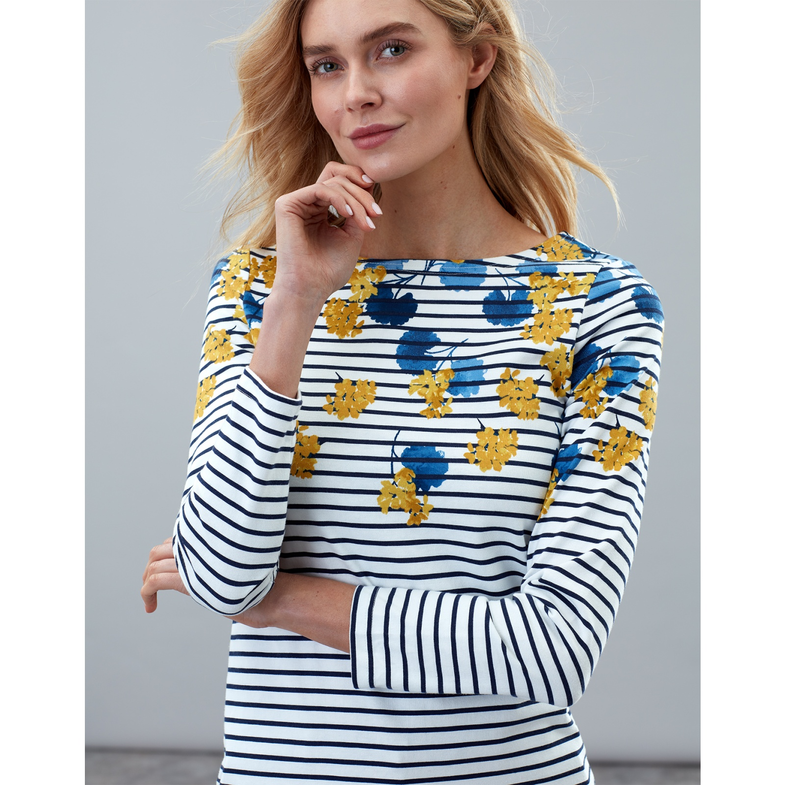 Joules-Harbour-Print-Long-Sleeve-Jersey-Top-ALL-COLOURS miniature 30