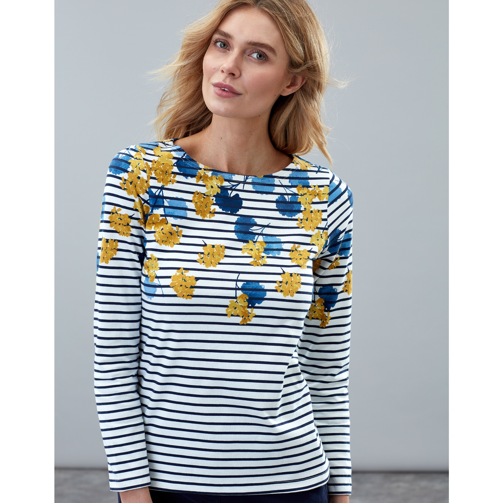 Joules-Harbour-Print-Long-Sleeve-Jersey-Top-ALL-COLOURS miniature 31