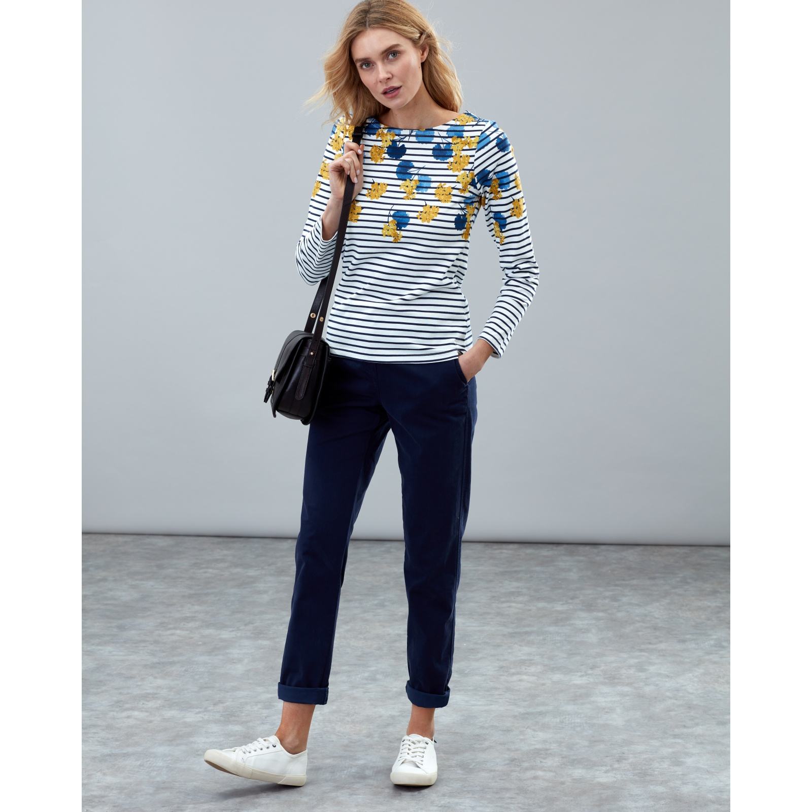 Joules-Harbour-Print-Long-Sleeve-Jersey-Top-ALL-COLOURS miniature 32
