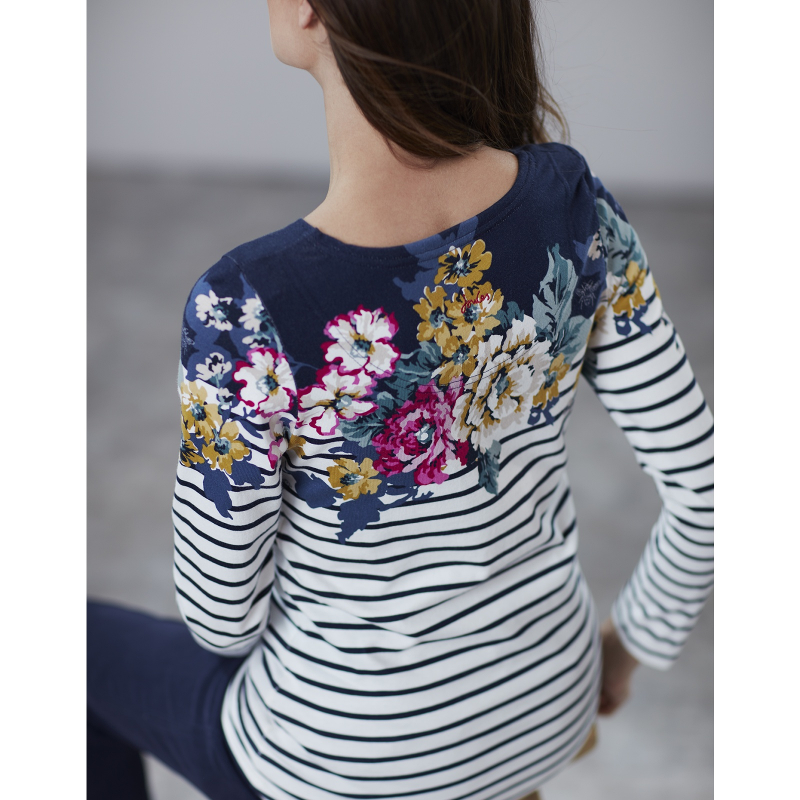 Joules-Harbour-Print-Long-Sleeve-Jersey-Top-ALL-COLOURS miniature 9