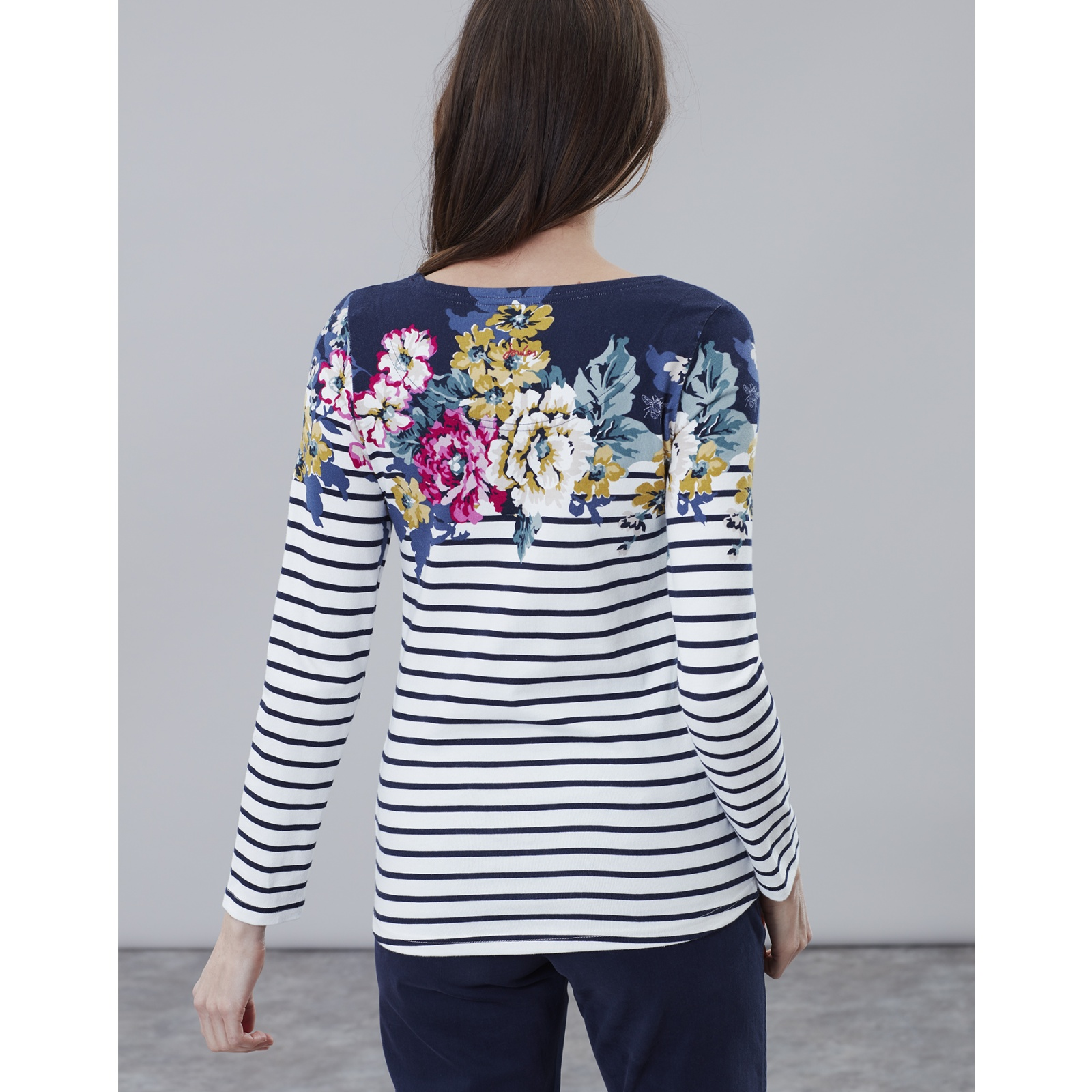 Joules-Harbour-Print-Long-Sleeve-Jersey-Top-ALL-COLOURS miniature 10