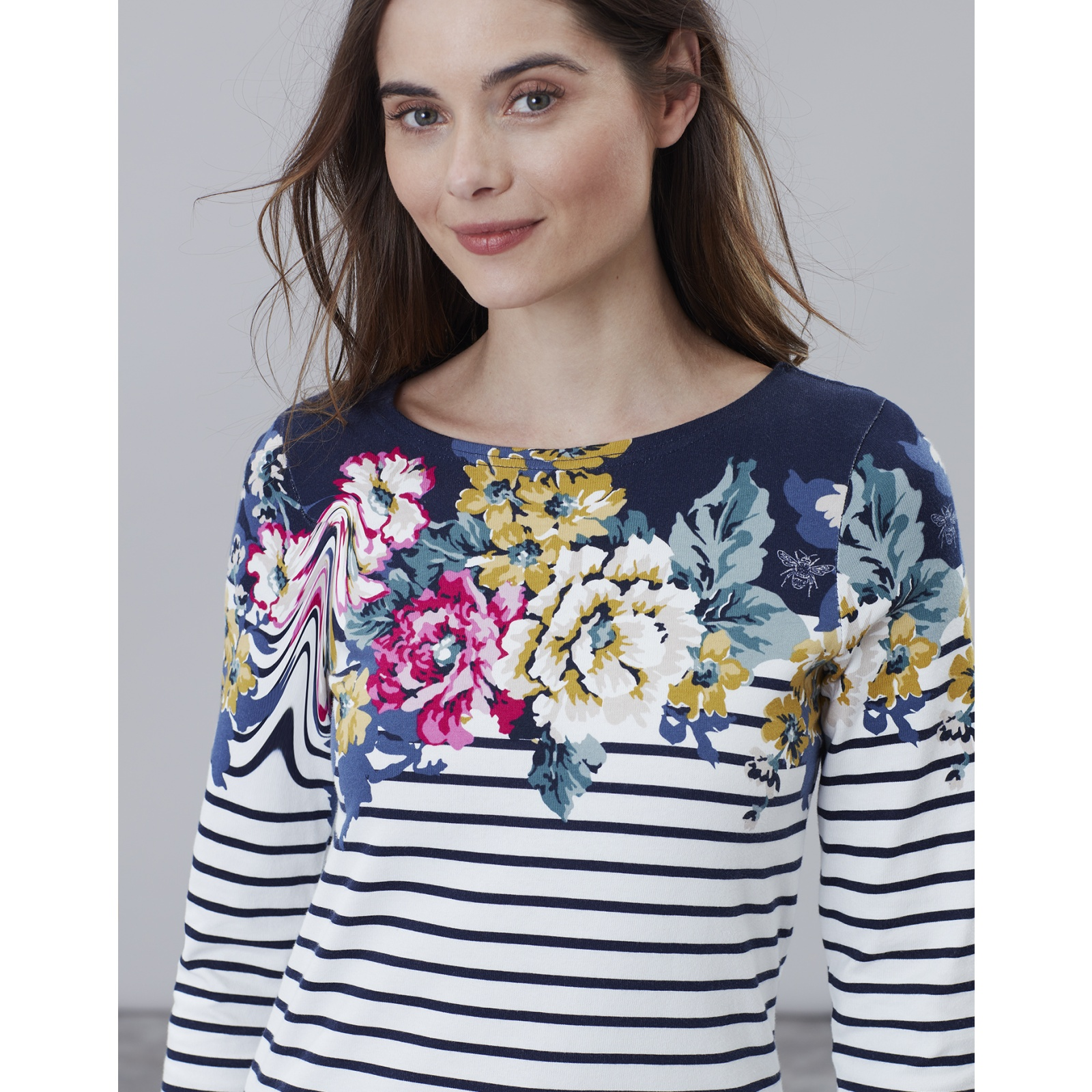Joules-Harbour-Print-Long-Sleeve-Jersey-Top-ALL-COLOURS miniature 11