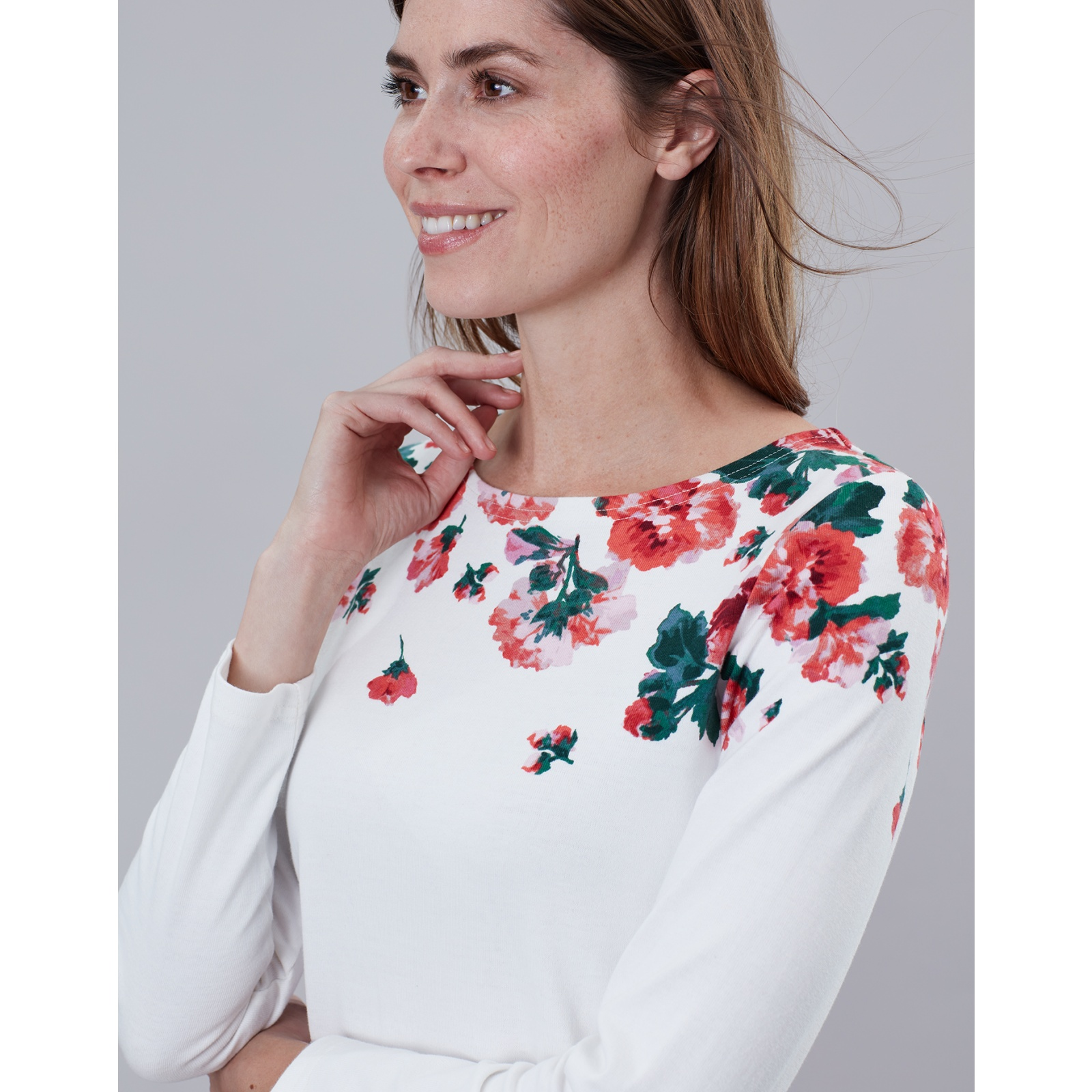 Joules-Harbour-Print-Long-Sleeve-Jersey-Top-ALL-COLOURS miniature 20
