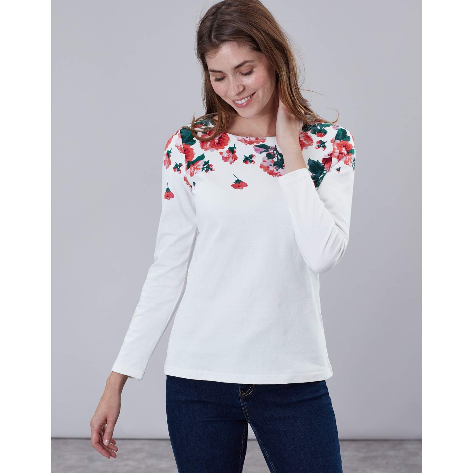 Joules-Harbour-Print-Long-Sleeve-Jersey-Top-ALL-COLOURS miniature 22