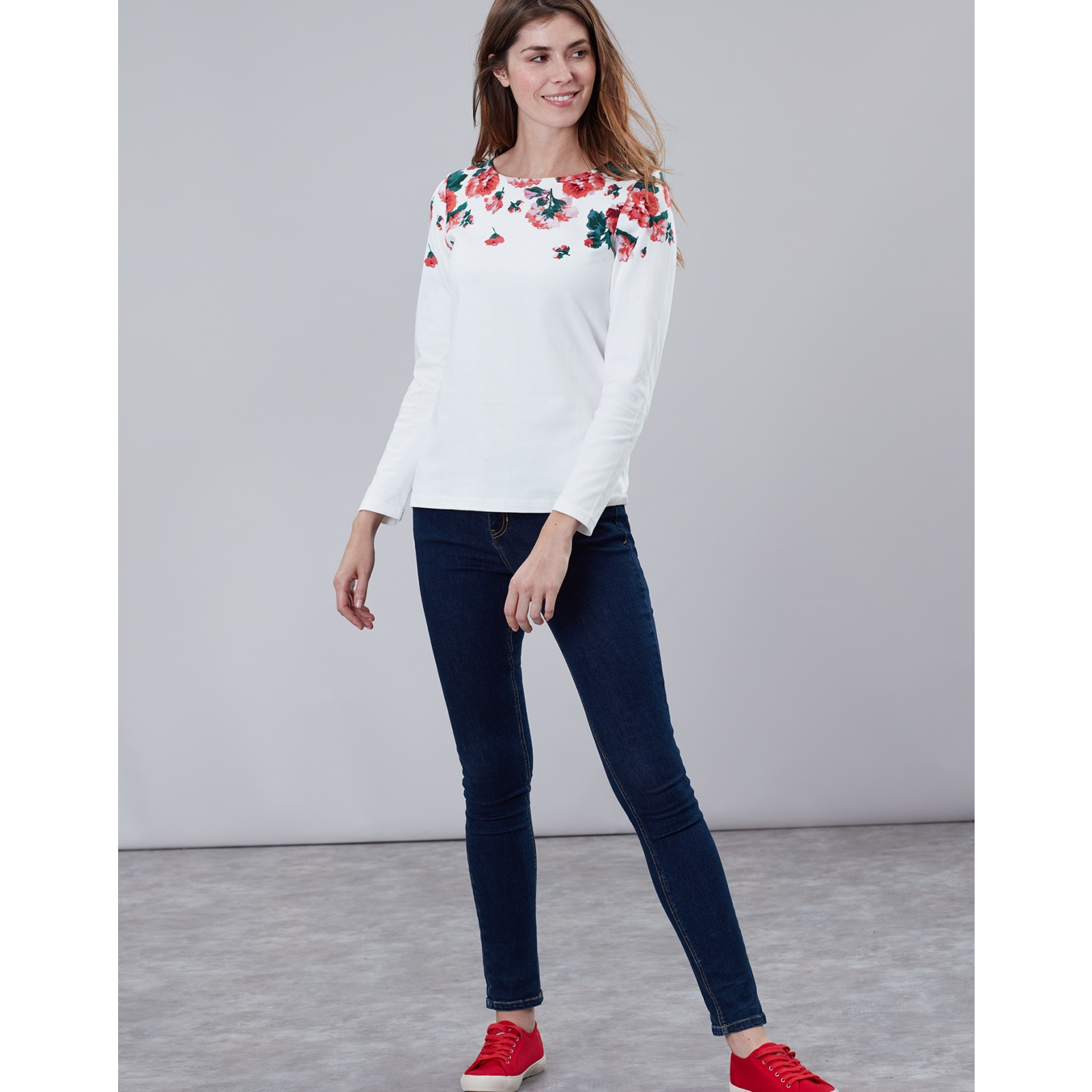 Joules-Harbour-Print-Long-Sleeve-Jersey-Top-ALL-COLOURS miniature 17