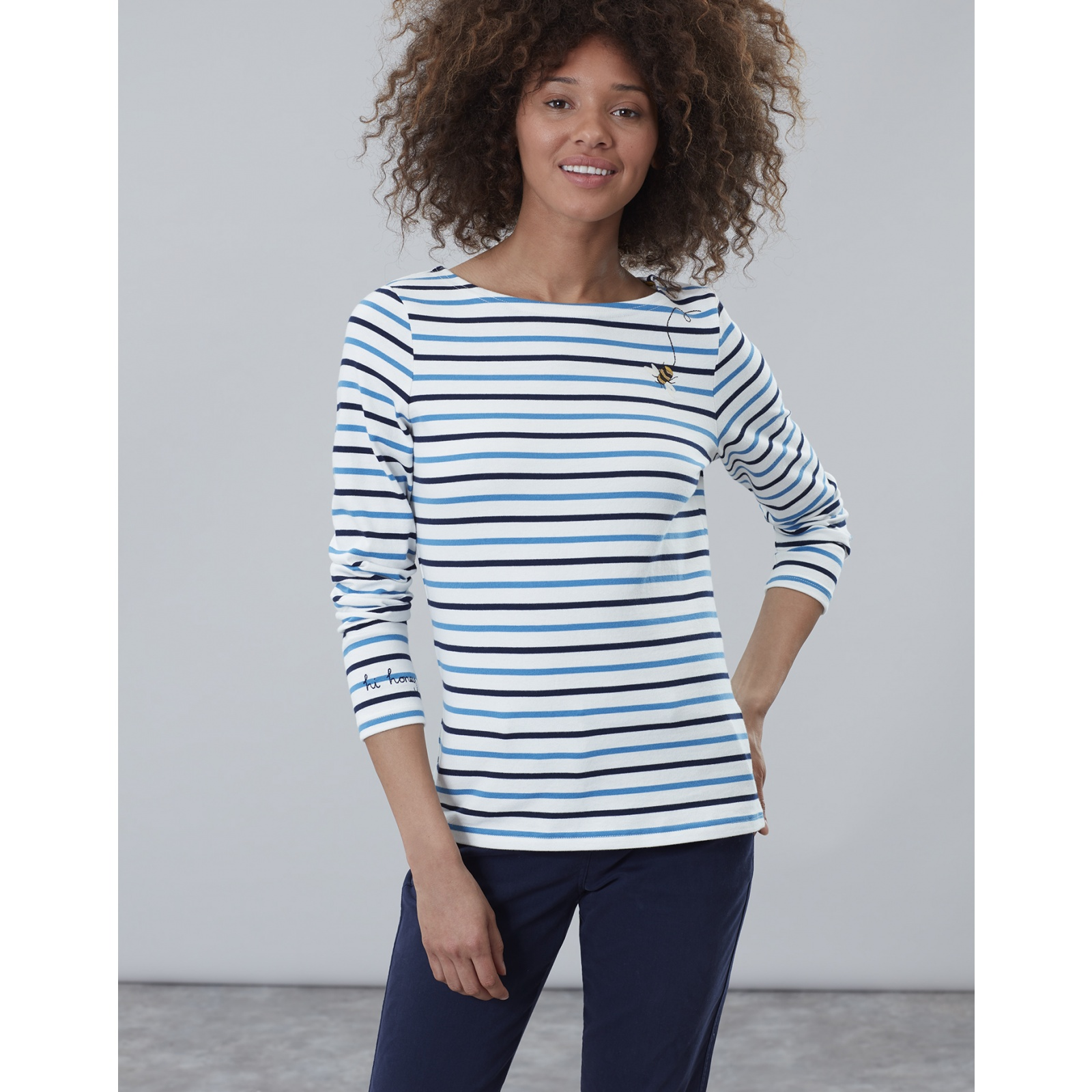 Joules-Harbour-Embroidered-Long-Sleeve-Jersey-Top-MORE-COLOURS miniature 9