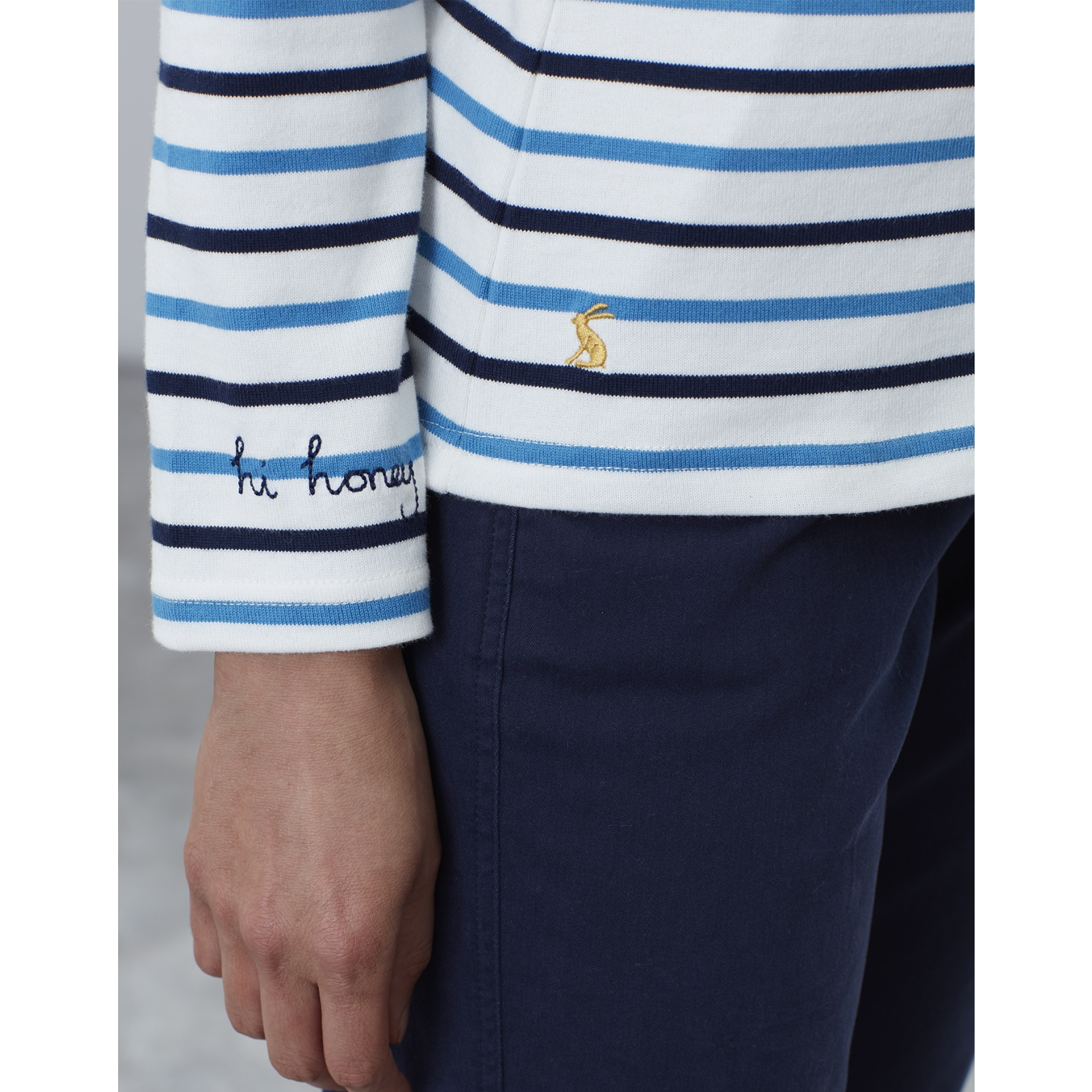 Joules-Harbour-Embroidered-Long-Sleeve-Jersey-Top-MORE-COLOURS miniature 12