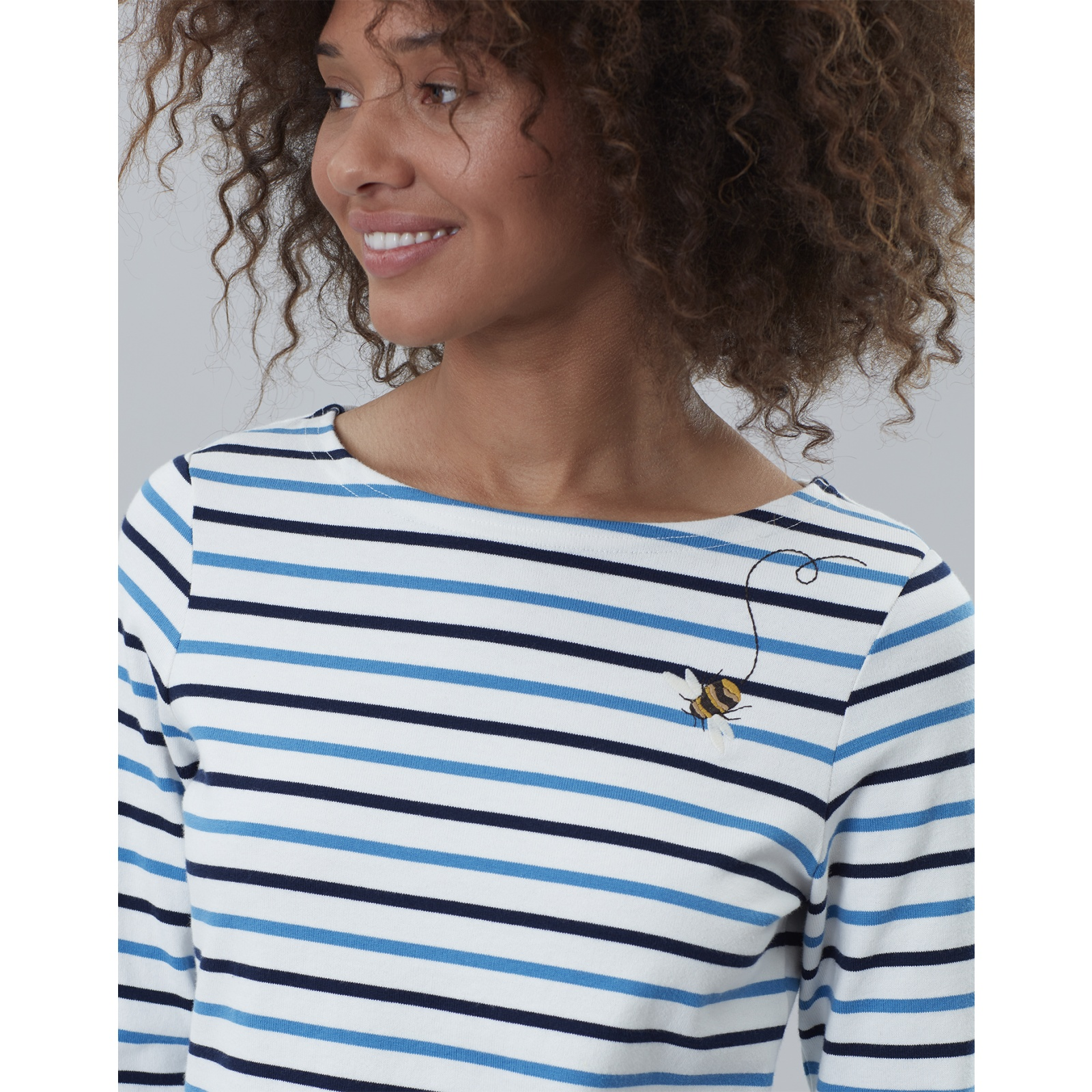 Joules-Harbour-Embroidered-Long-Sleeve-Jersey-Top-MORE-COLOURS miniature 13