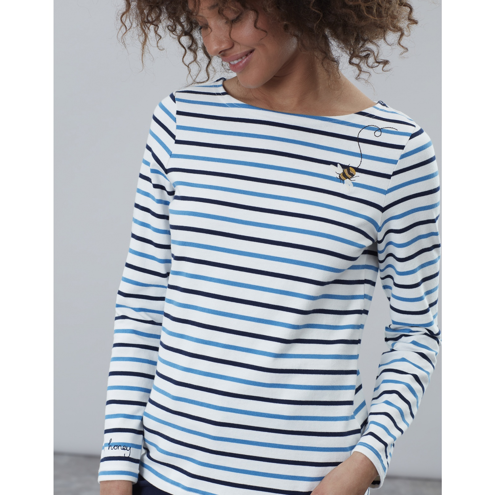 Joules-Harbour-Embroidered-Long-Sleeve-Jersey-Top-MORE-COLOURS miniature 14