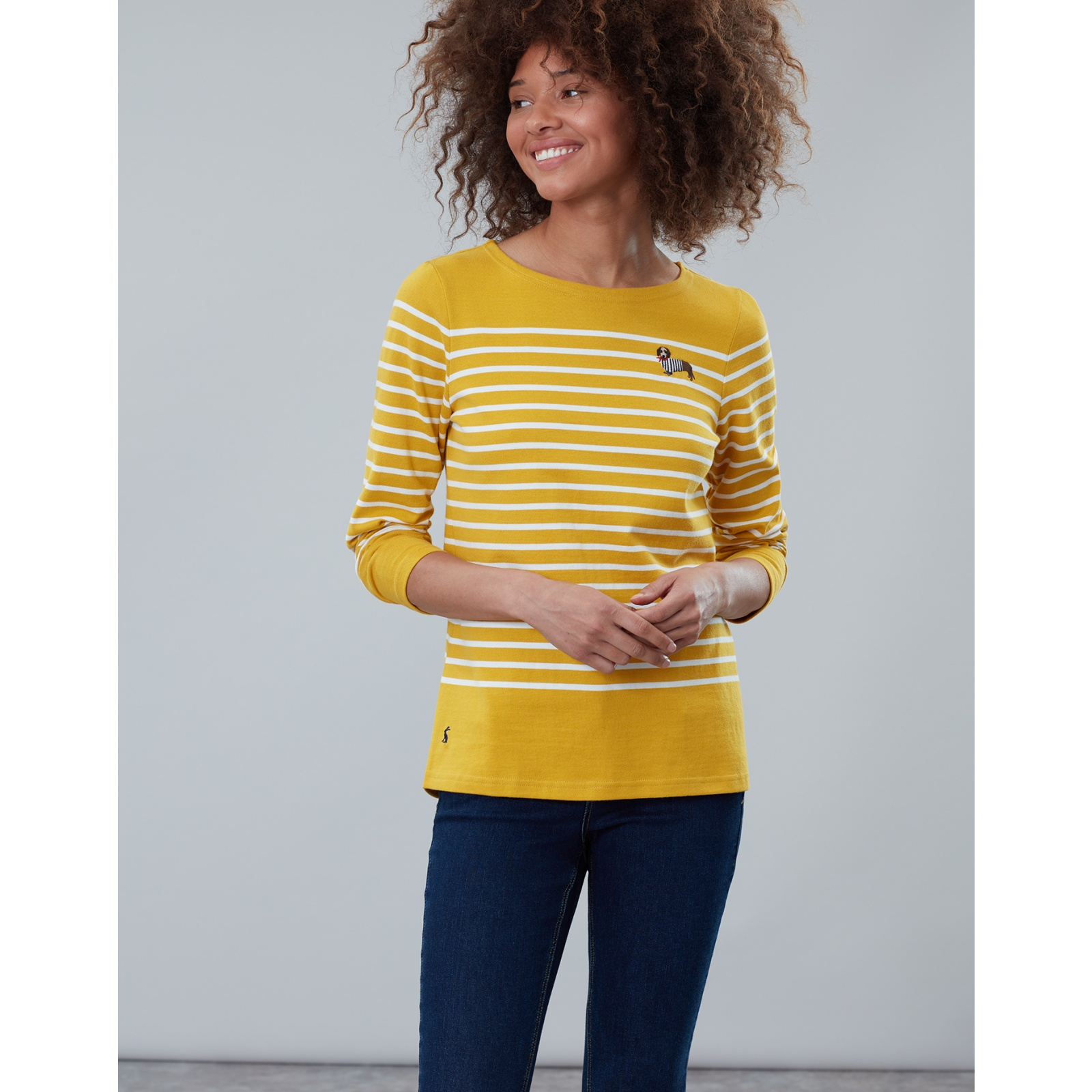 Joules-Harbour-Embroidered-Long-Sleeve-Jersey-Top-MORE-COLOURS thumbnail 19