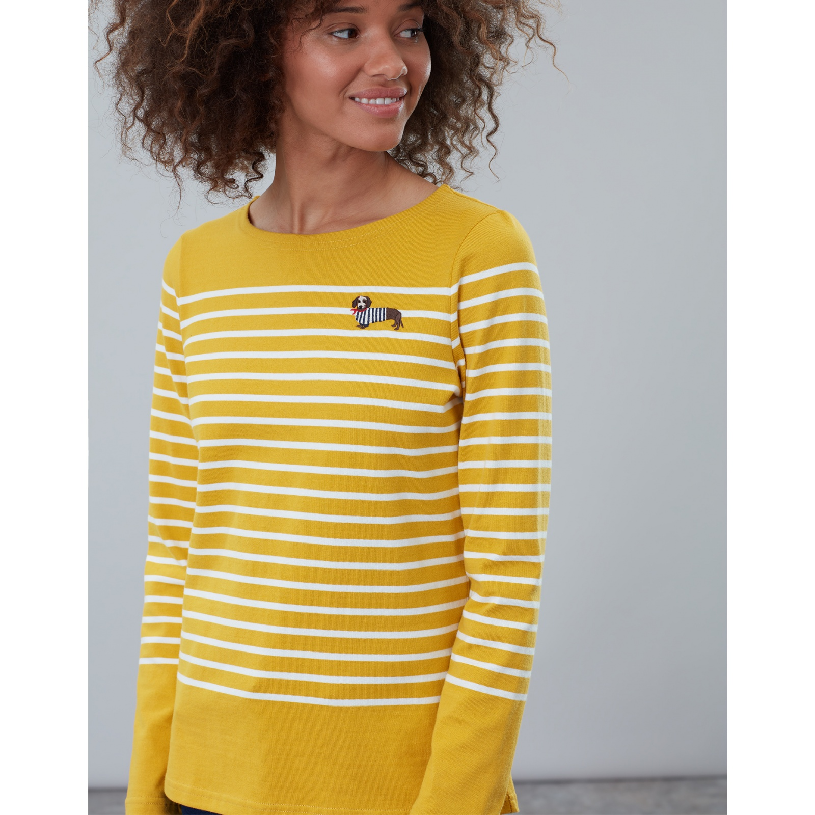 Joules-Harbour-Embroidered-Long-Sleeve-Jersey-Top-MORE-COLOURS miniature 24
