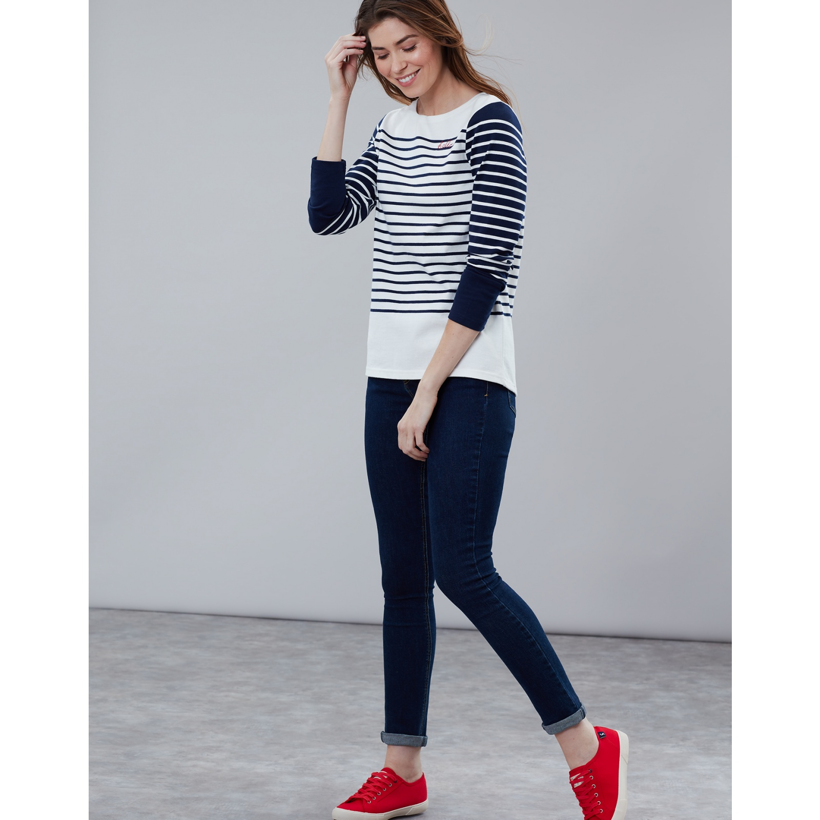 Joules-Harbour-Embroidered-Long-Sleeve-Jersey-Top-MORE-COLOURS thumbnail 28