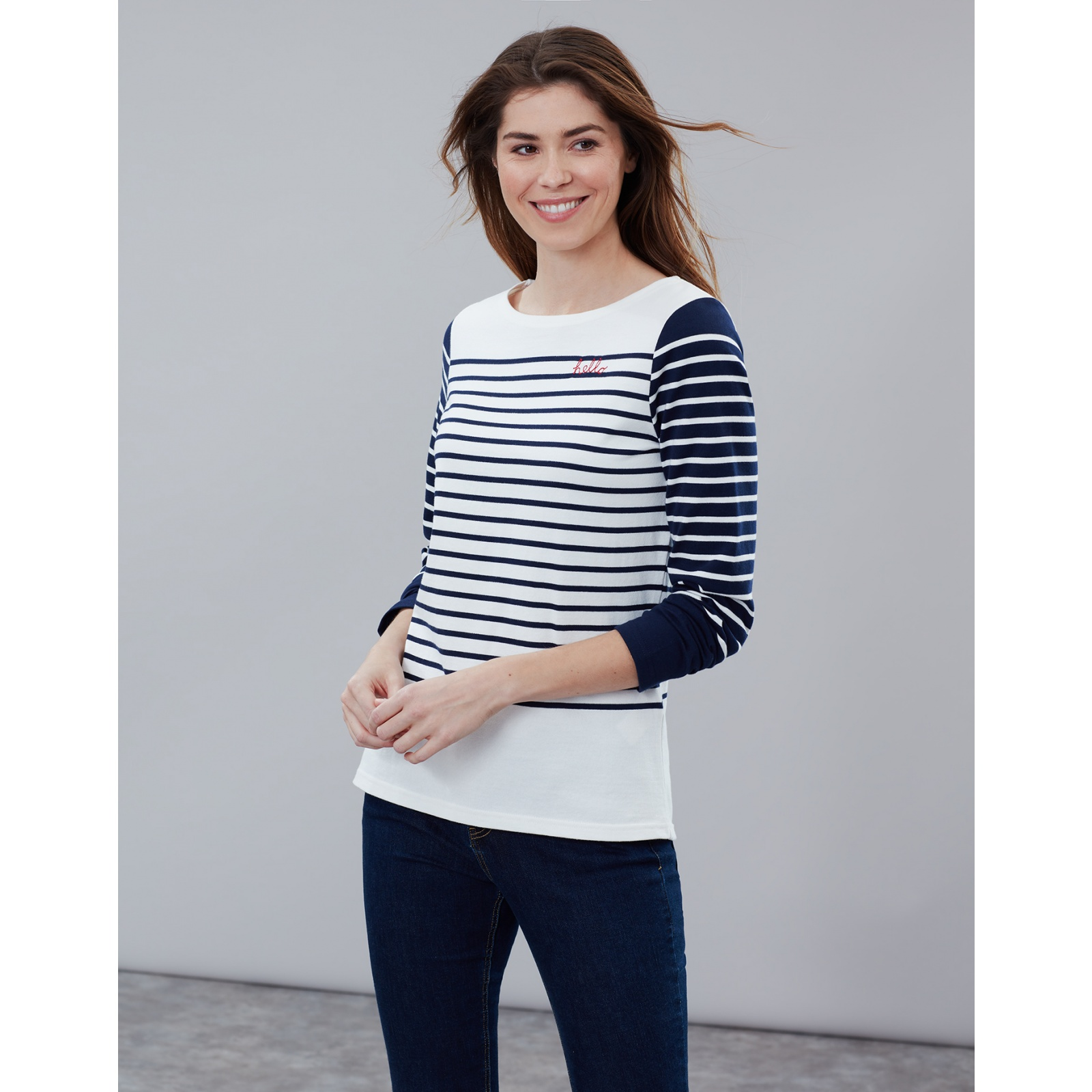 Joules-Harbour-Embroidered-Long-Sleeve-Jersey-Top-MORE-COLOURS thumbnail 26