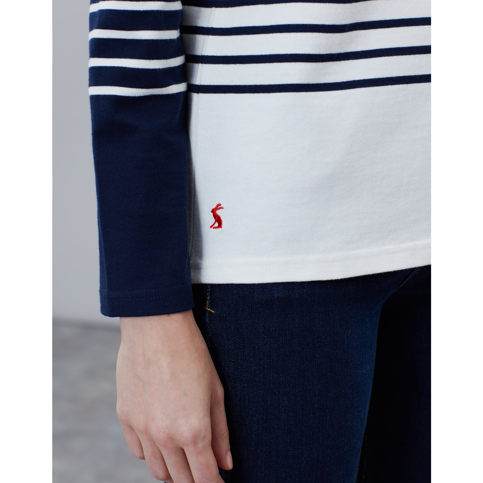 Joules-Harbour-Embroidered-Long-Sleeve-Jersey-Top-MORE-COLOURS miniature 30