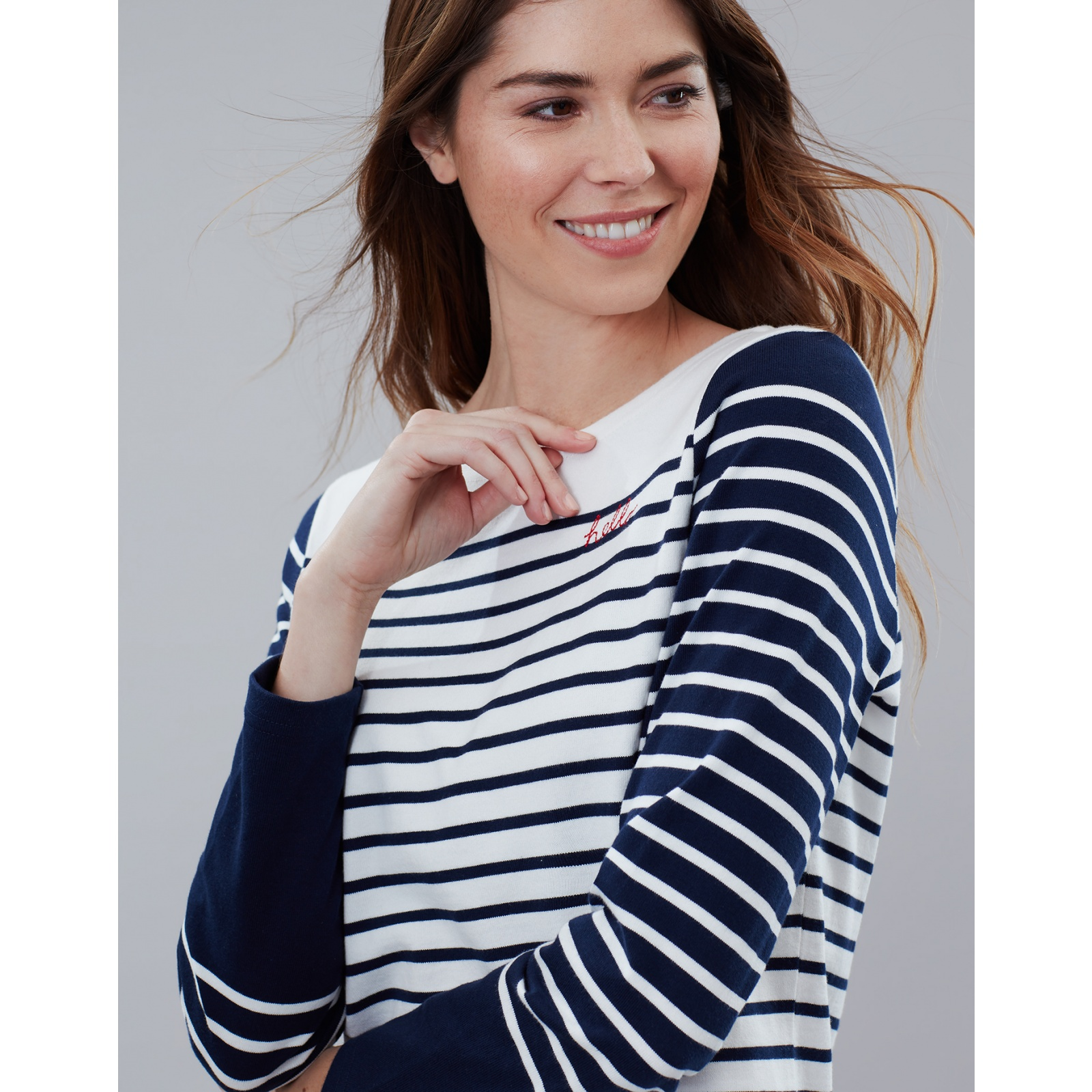 Joules-Harbour-Embroidered-Long-Sleeve-Jersey-Top-MORE-COLOURS miniature 31