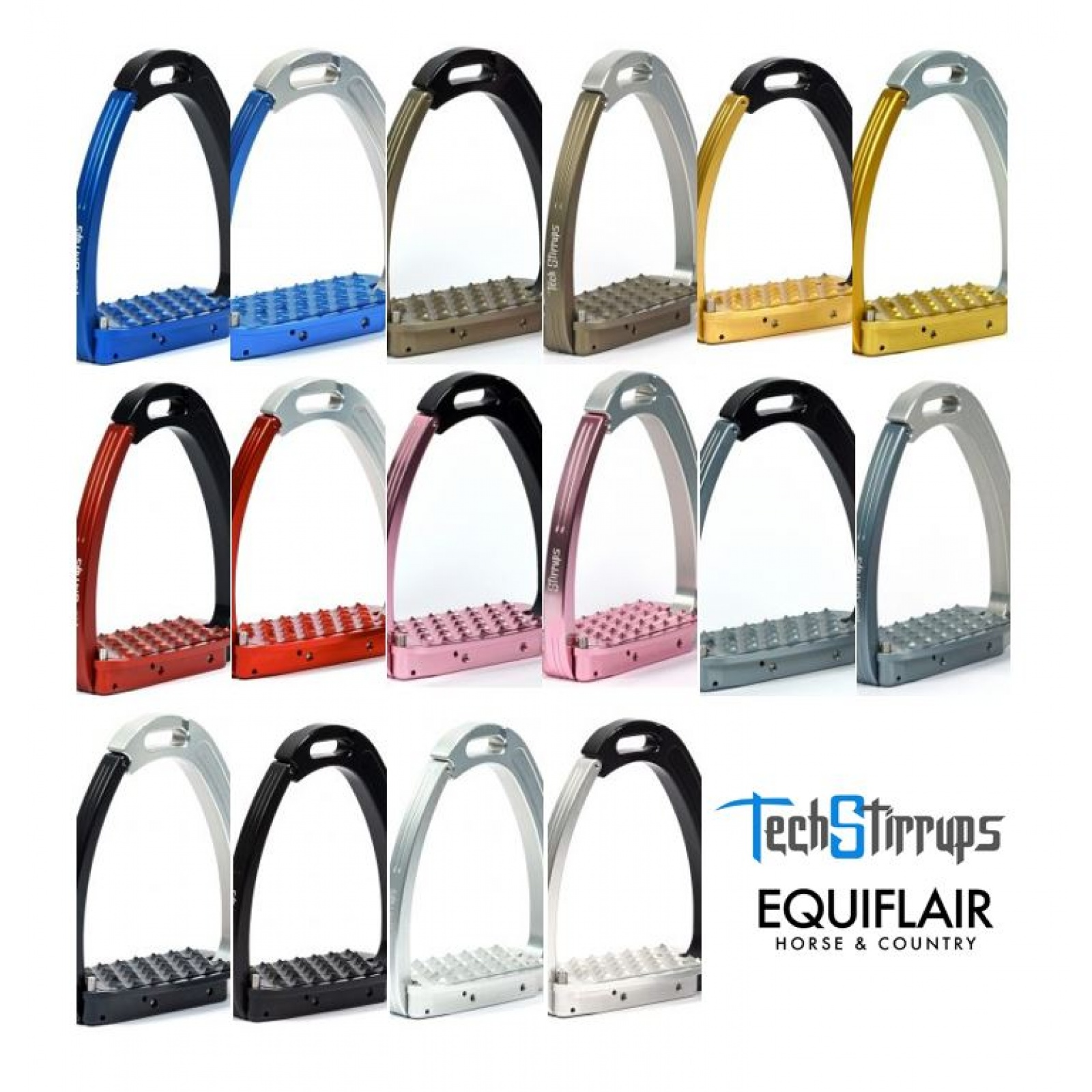 Tech-Stirrups-Venice-YOUNG-Safety-Stirrup-Irons-with-Foot-Release-ALL-COLOURS miniature 3