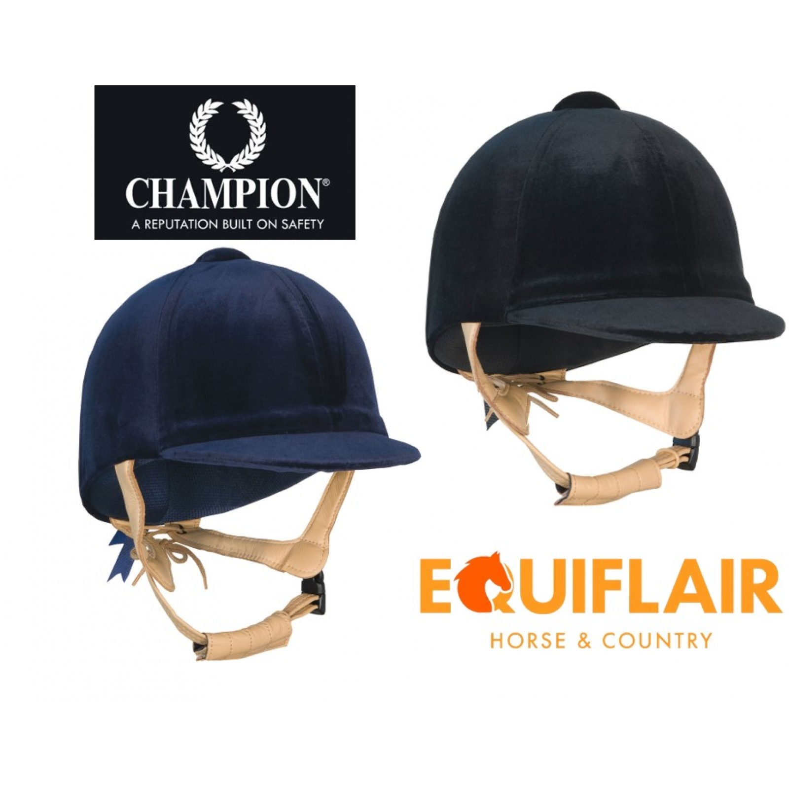 Champion-CPX3000-Deluxe-Velvet-Coated-Riding-Hat miniature 3