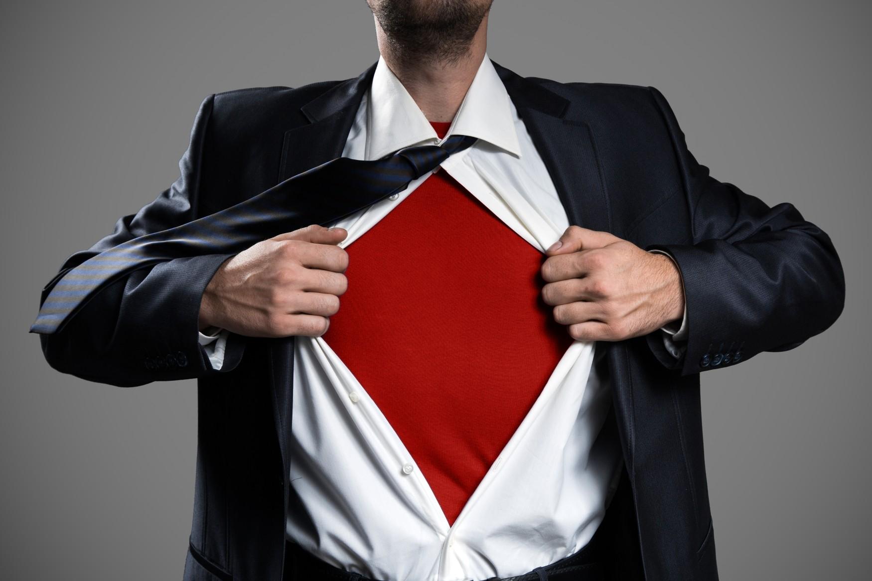 act like a superhero