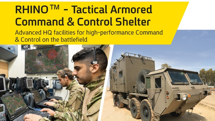 RHINO™ - Tactical Armored Command & Control Shelter