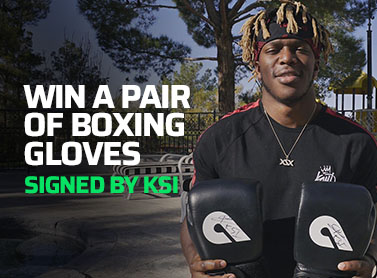 Win a pair of boxing gloves signed by KSI