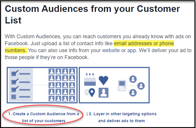 custom audiences on facebook