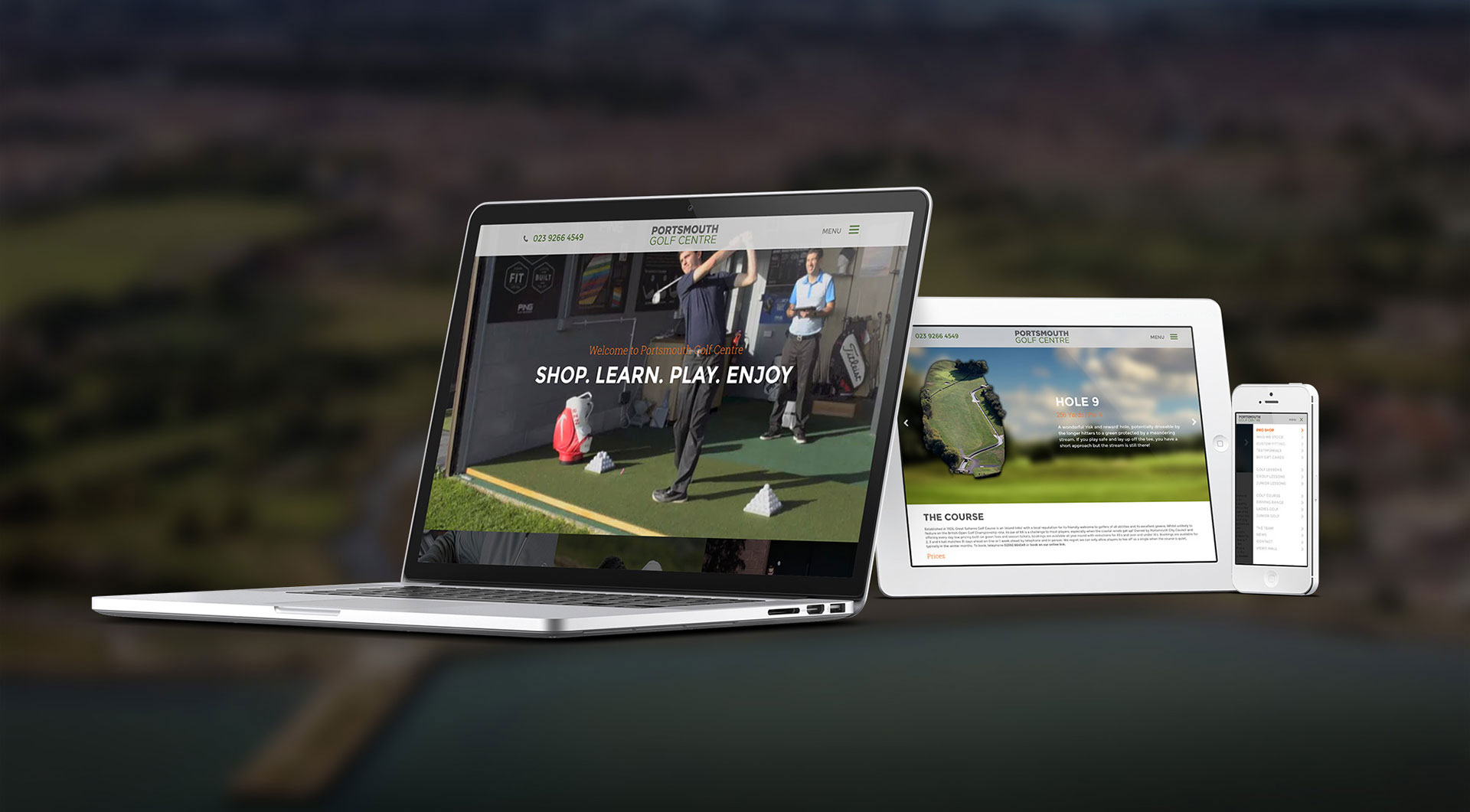 Portsmouth Golf Centre Website
