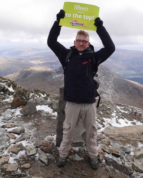 Hooray! Ollie reaches the Snowdon summit with IKCA!