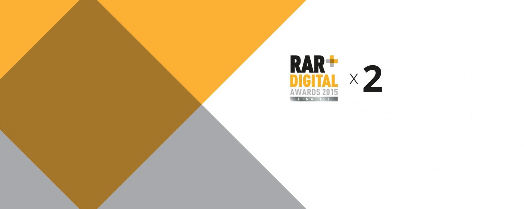Fifteen nominated for 2 x RAR Digital Awards