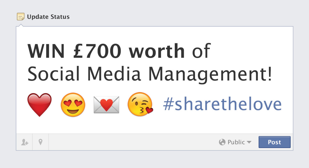 #ShareTheLove – Fifteen Social Media Competition!