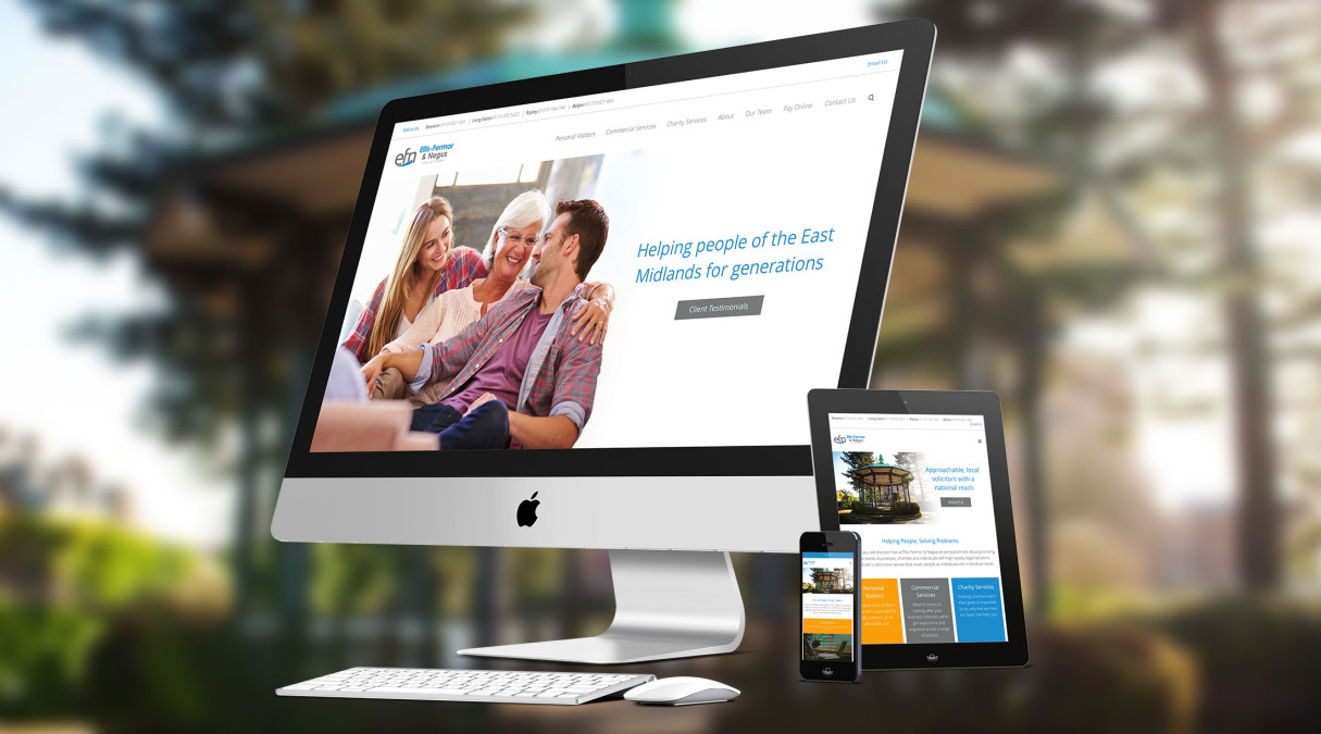 Helping People & Solving Problems Ellis-Fermor & Negus Get A New Website