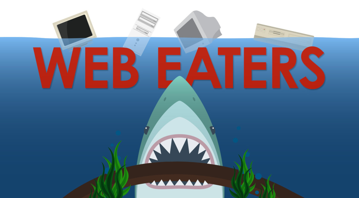 There's A Physical Side To The Web, And SHARKS ARE EATING IT!!!