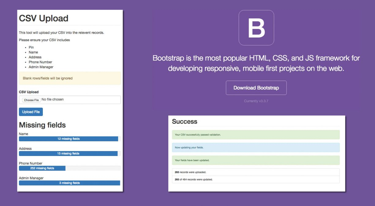 Quick UI Development with Bootstrap 3