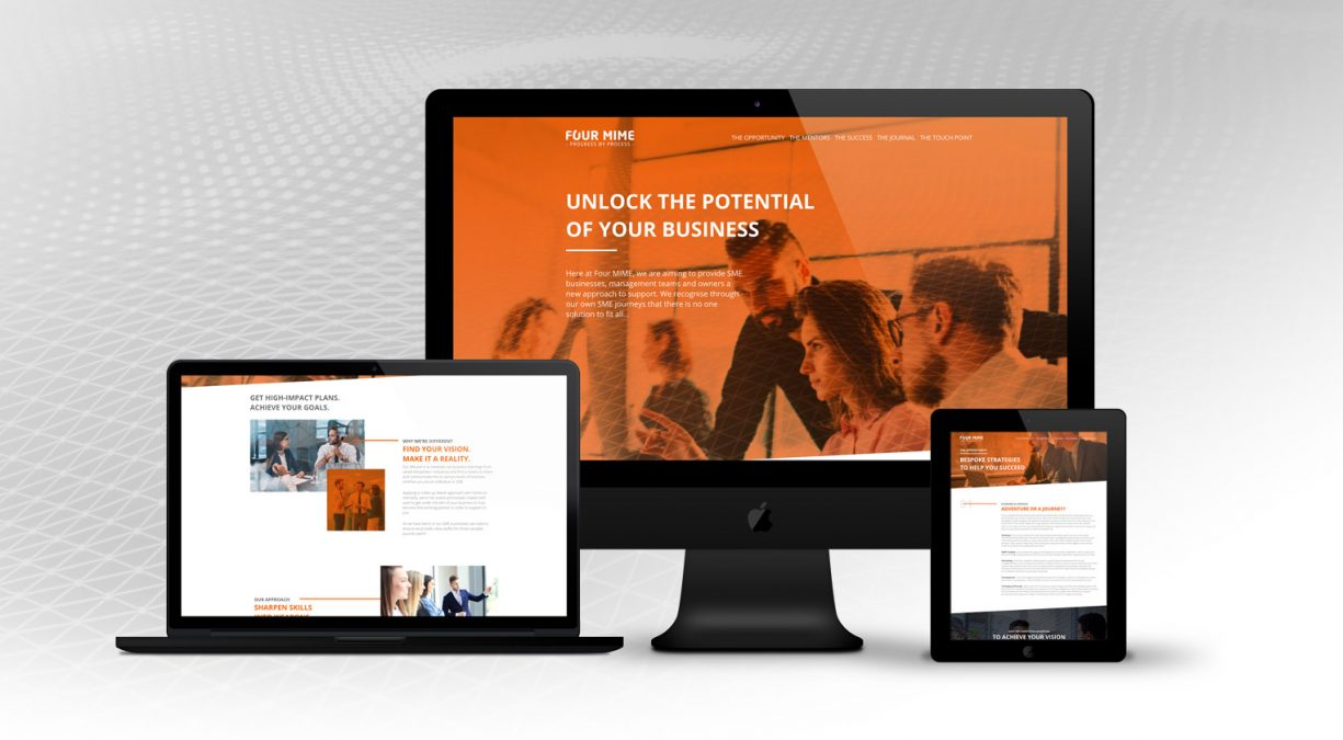 A New Brand and Website For Four Mime