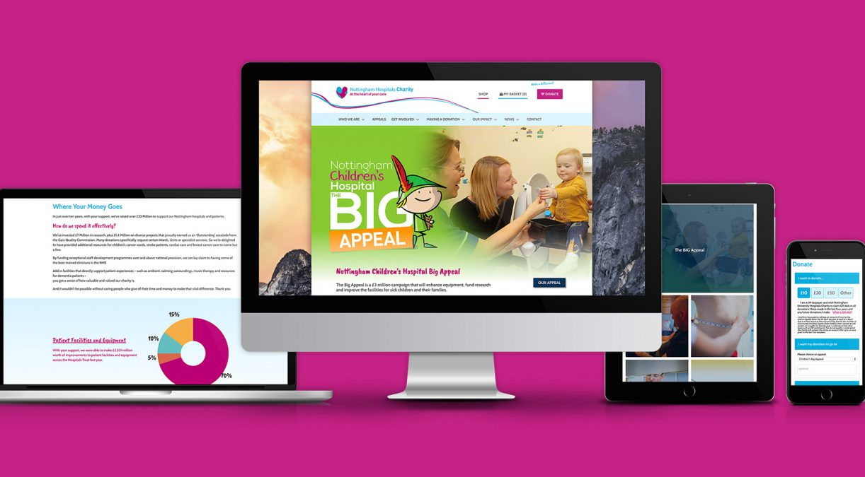 A website that is at the heart of Nottingham Hospitals Charity