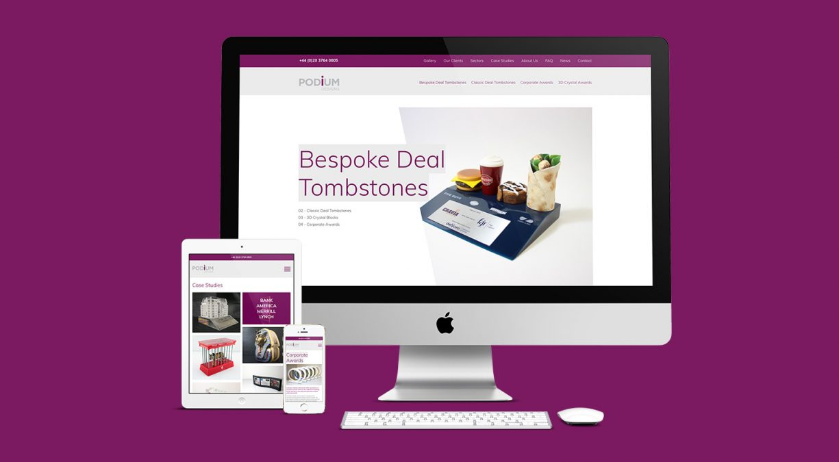 Website Launched For Tombstone Suppliers Podium Designs
