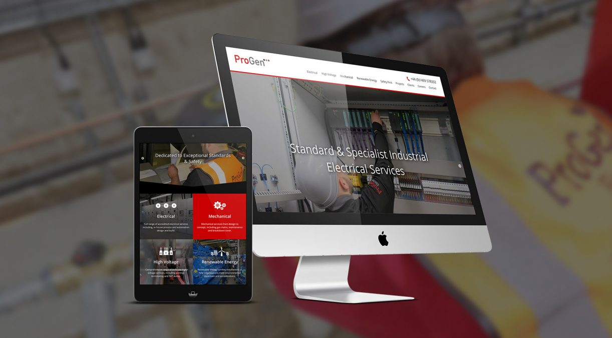 An electrifying new website for Progen