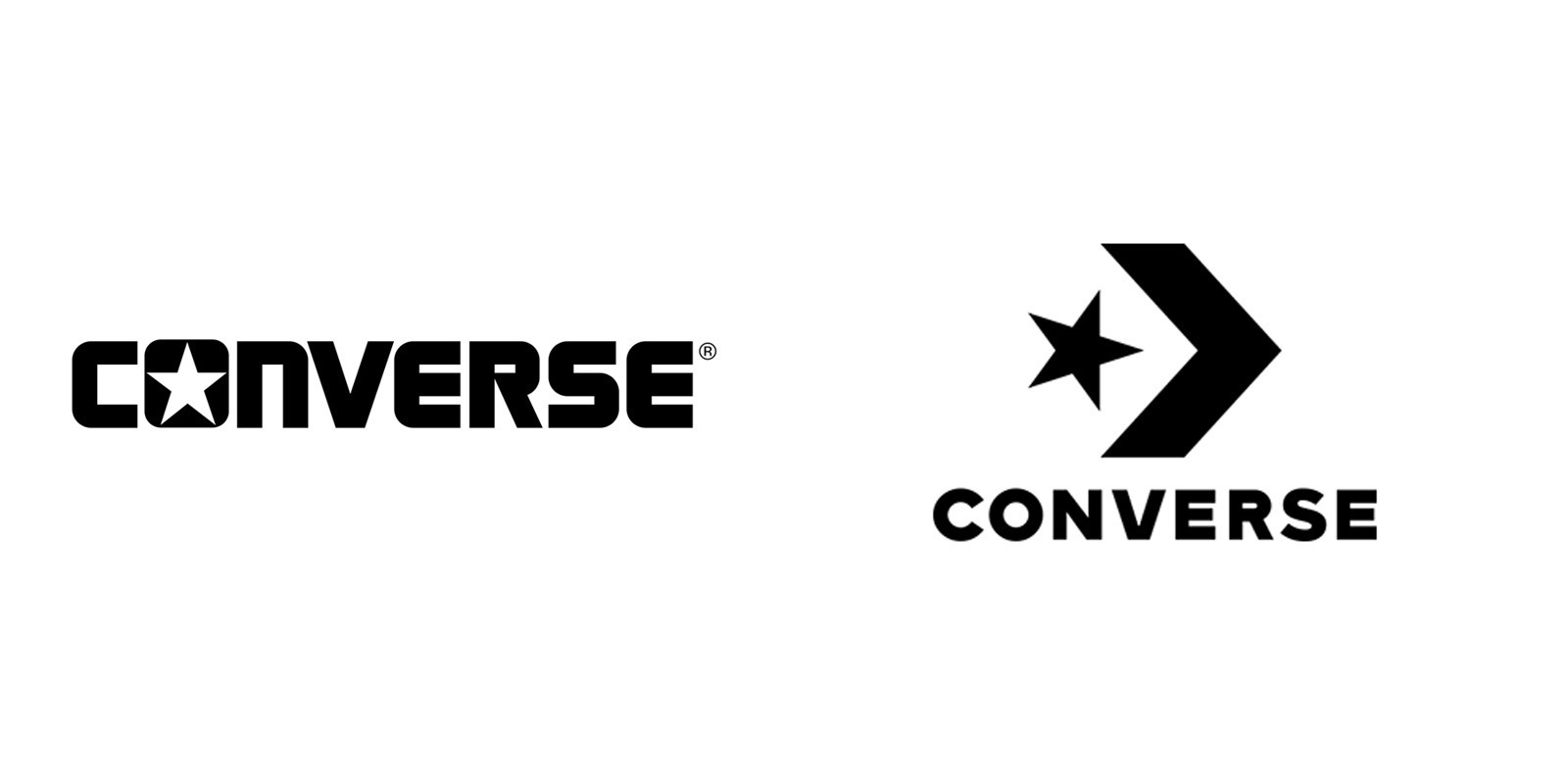 Converse before and after logos