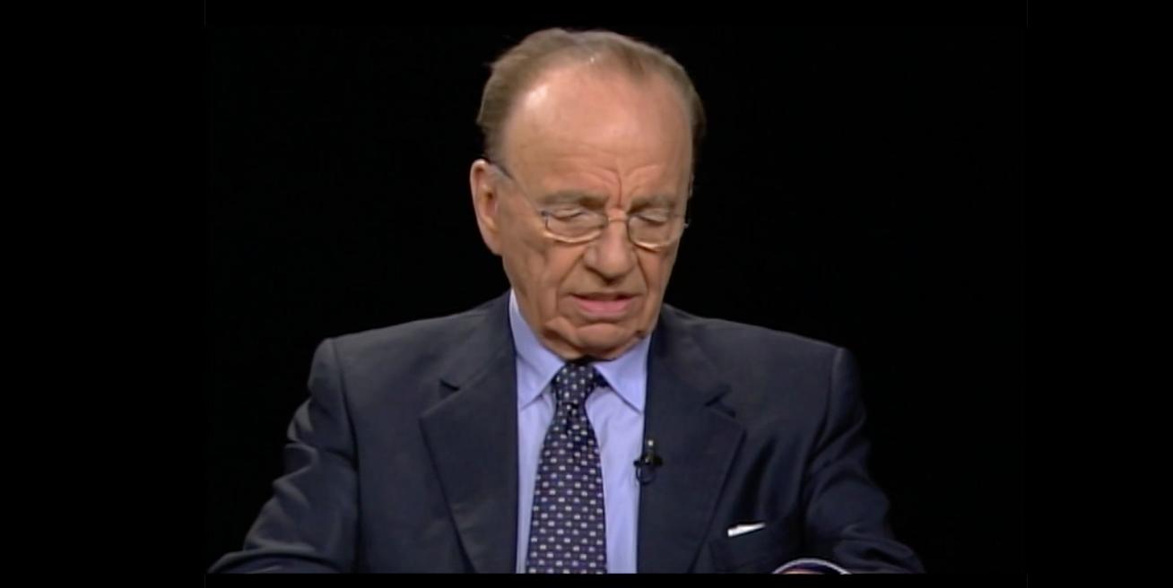 Murdoch speak to Charlie Rose