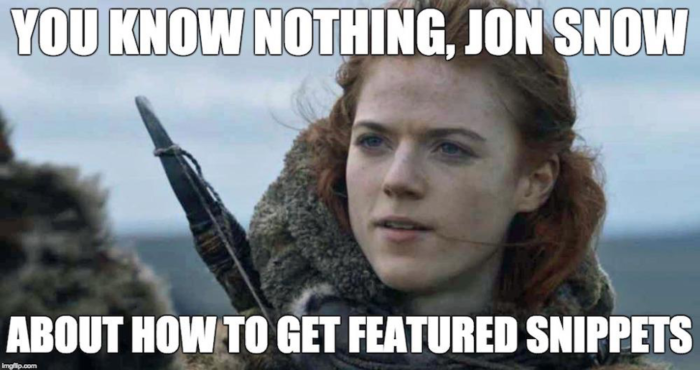Game of Thrones SEO meme
