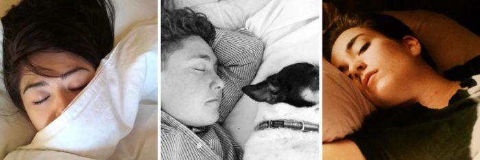 instagram cliches sleeping