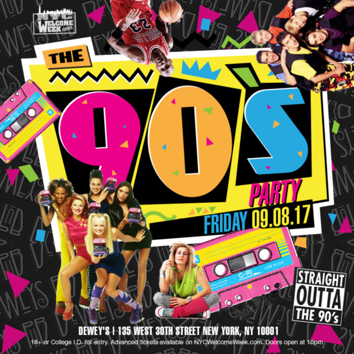 90s Party Poster (Source: NightOut.com)