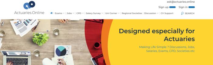 Actuaries Online Homepage