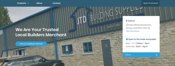 JTD Building Supplies Header