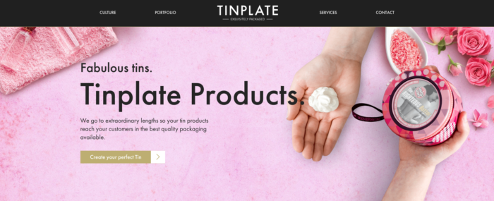 Tinplate Realism & Flat Design - Web Design Trends